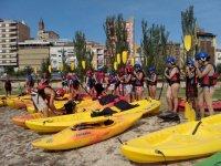 Ruta guiada en kayak en el río Cinca o río Segre