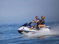 Navegando en moto nautica por la Costa del Sol