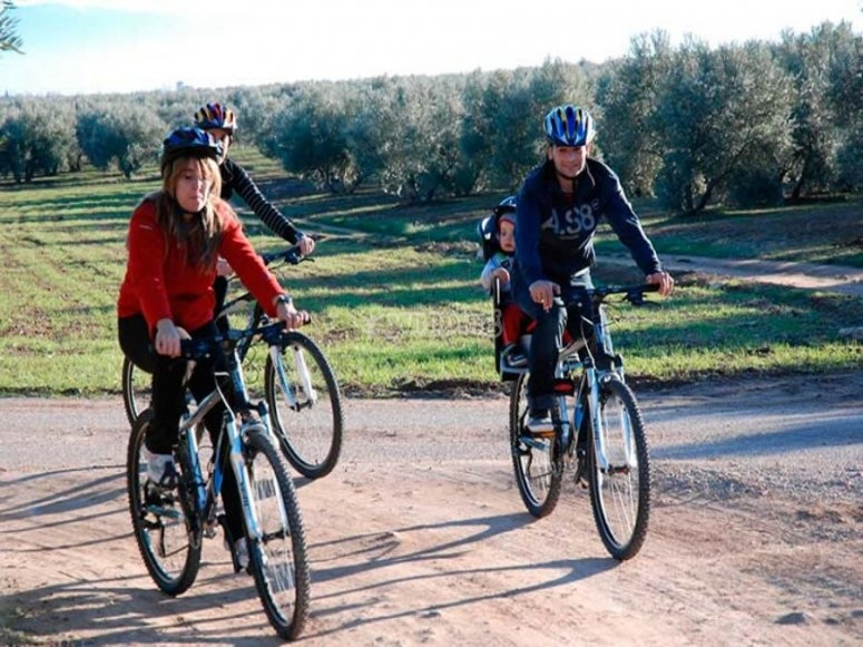 Ruta en bici en familia