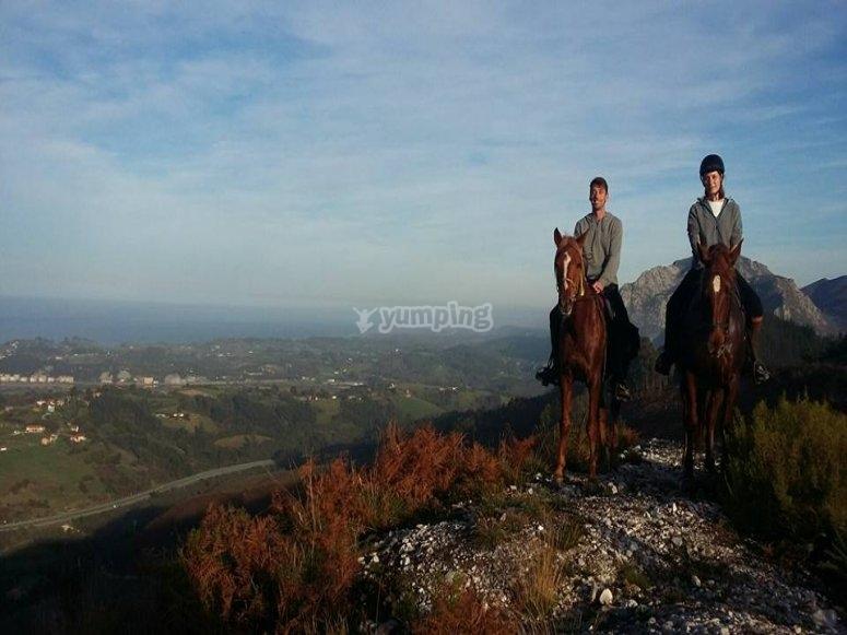 Ride for two on horseback through Ribadesella