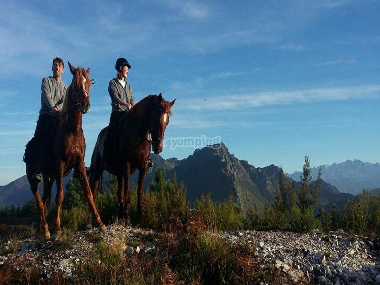 Horseback riding through Ribadesella