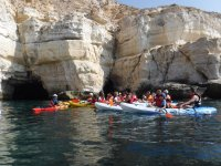 Listening to the kayak monitor in Cabo de Gata