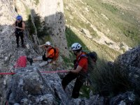 Rappel durante la escalada