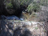 Rappelling in the canyon of Paterna