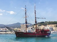 Navegar en barco pirata