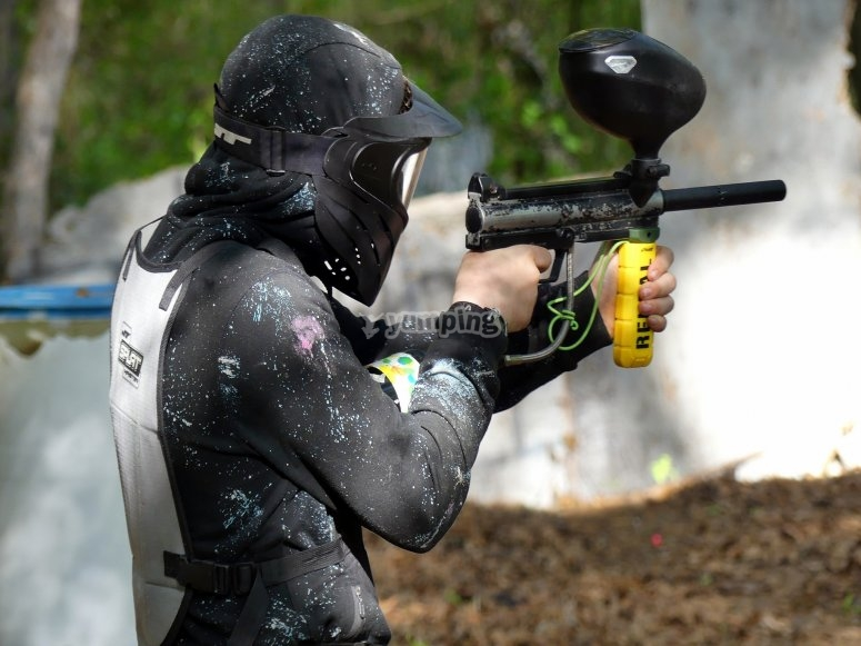 En la batalla de paintball