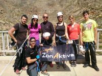 Group during rappelling activity