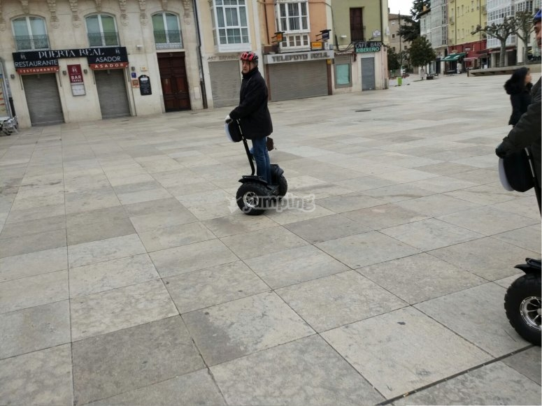 Riding a Segway in Burgos