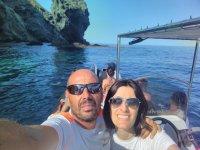 En barco en pareja en Almeria