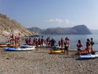 Instrucciones antes de la ruta en kayak en Almeria