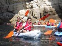 Navegando en kayak biplaza en el Cabo de gata