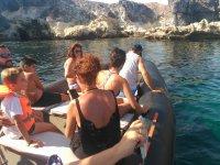 Visita turistica en barco en Las Negras
