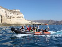 Visiting the Cape of Gata on the boat