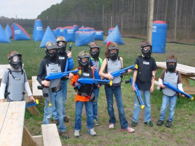 Kid paintball Barcelona unlimited balls