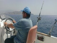 Pêche sur le bateau