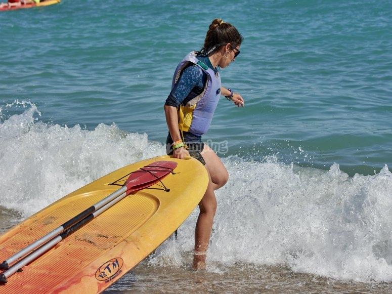 Alquiler de paddle surf en Tarragona