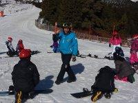 Clase de snowboard