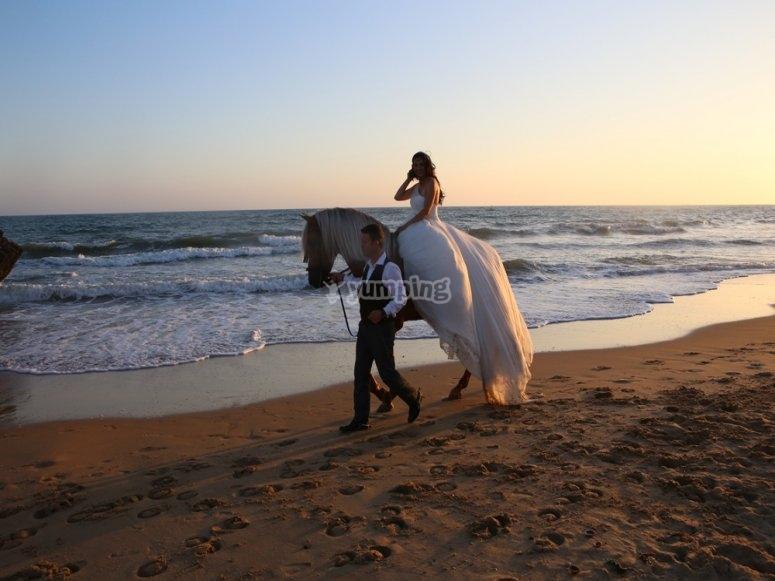 La novia a caballo