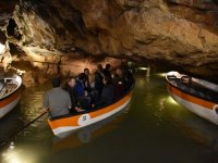 Guided tour inside the cave