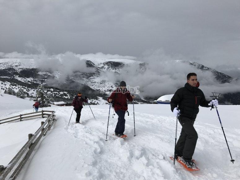 Snowshoes trip to Port del Comte