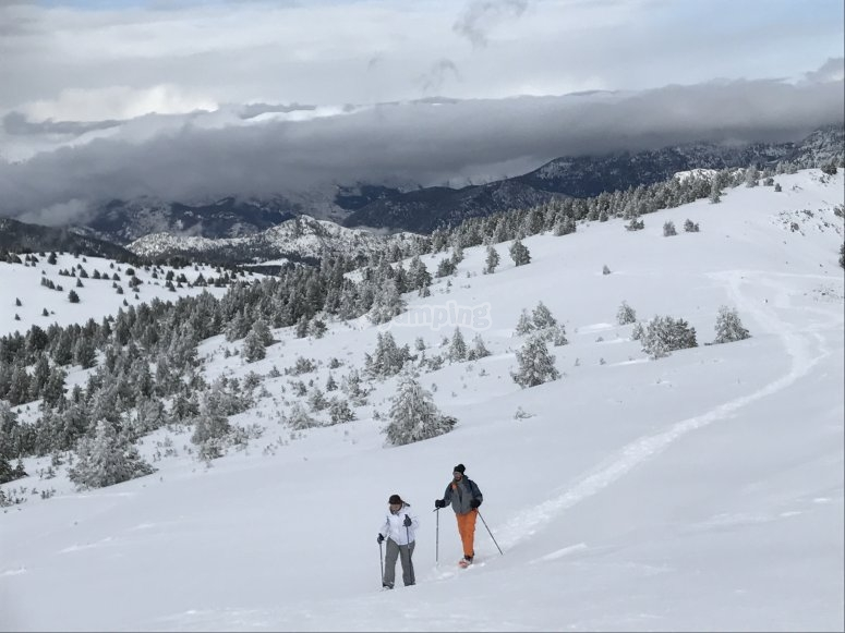 Snow covered hills in Catalan Pyrenees