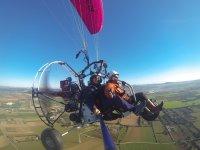 Volando en Mallorca en paramotor