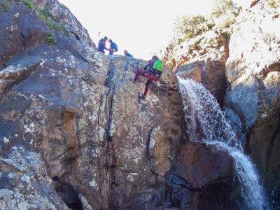 塞维利亚Risco Blanco峡谷的下降