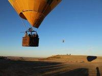 Despegando con el globo aerostático