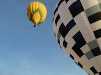 Hot air balloons on the flight