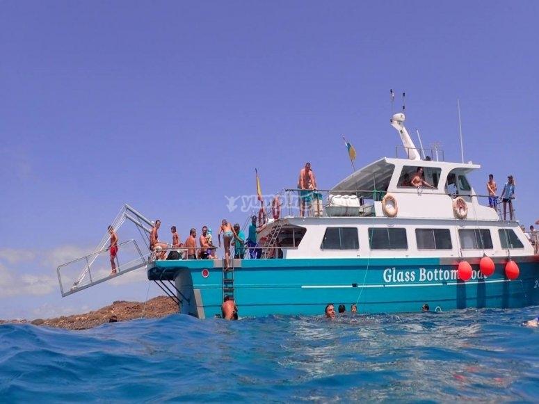 Boat trip to Isla de Lobos for children