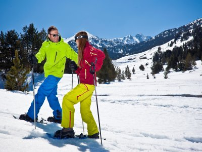 Grandvalira的雪鞋小径2小时