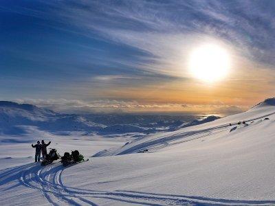 Grandvalira的夜行雪地车1小时