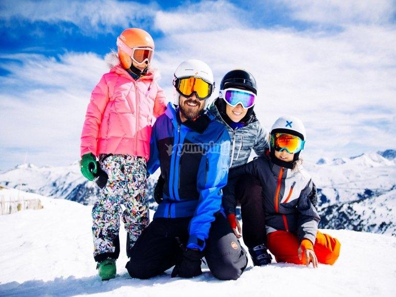 Familia en Grandvalira