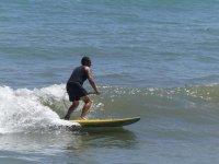 Paddle surf en olas