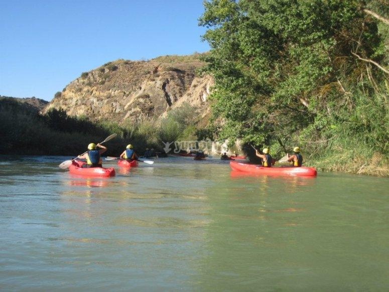Canoe sul fiume