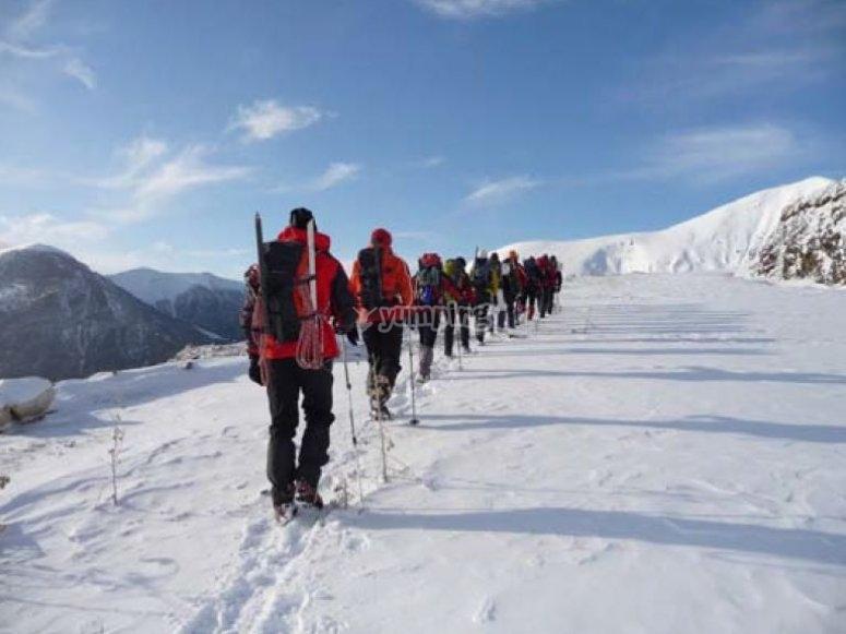 Route tjrough the snow