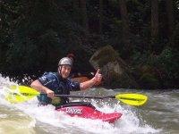 Piraguas por aguas rápidas