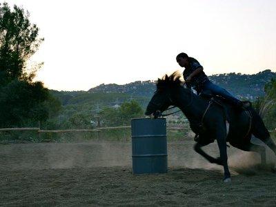 在Baix Llobregat骑马的入门课程