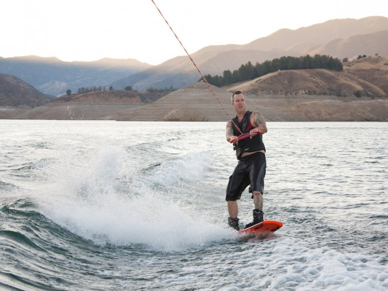 Sesion de wakeboard