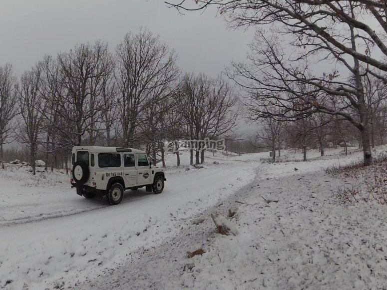 Excursión en 4x4 Valle del Jerte nevado