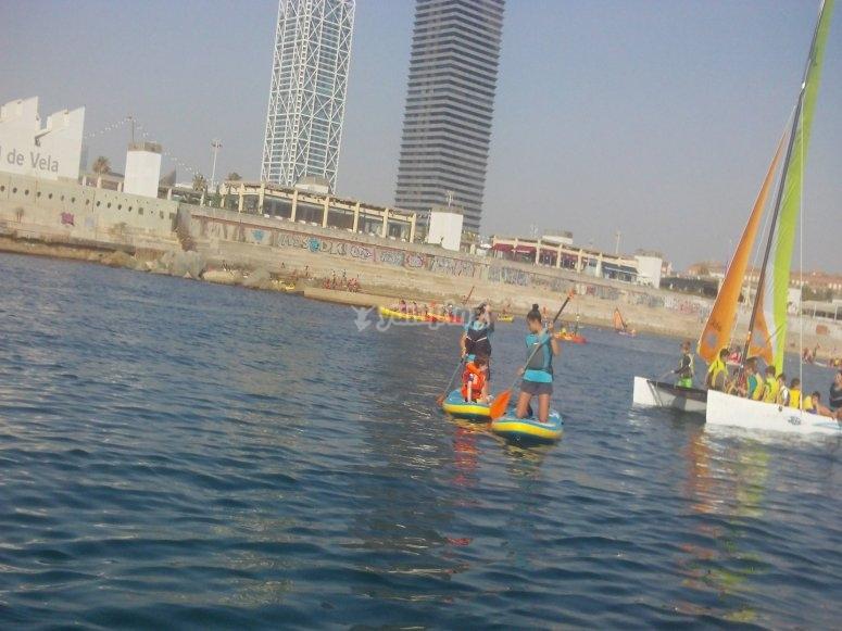 Giornata degli sport acquatici a Barcellona