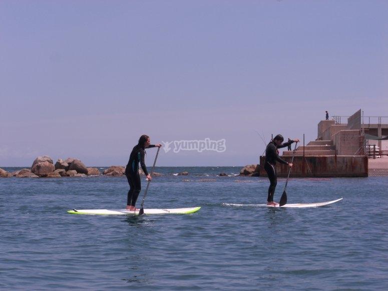 Noleggio di paddle surf a Barcellona