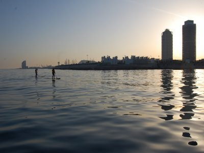 Paddle surf in Port Olímpic 1 hour for adults