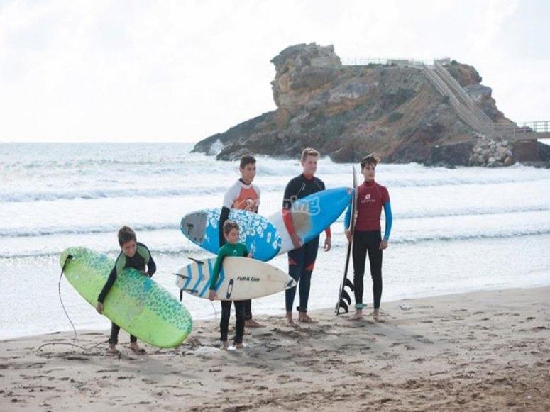 Familia de surf