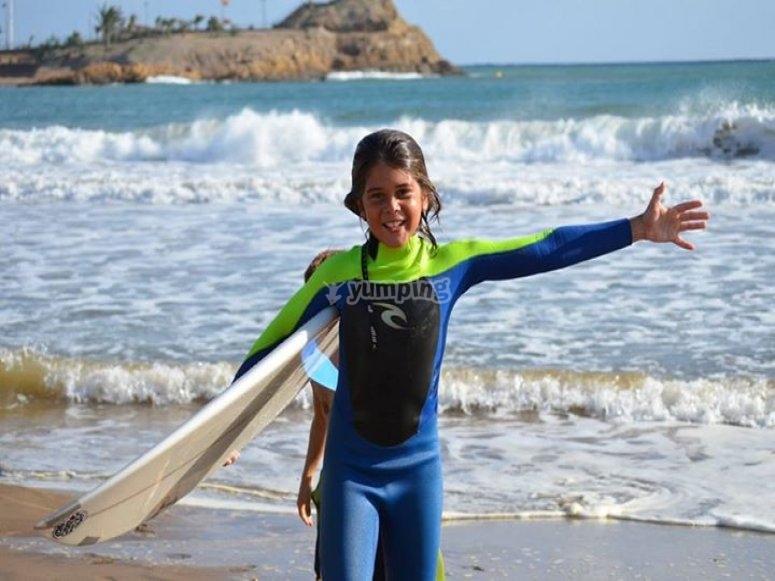 Una gran sesion de surf