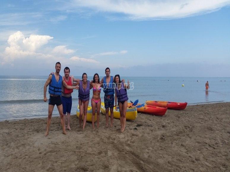 Alquiler kayak en familia Delta del Ebro