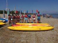 Kayak rental in the Ebro Delta 1 hour