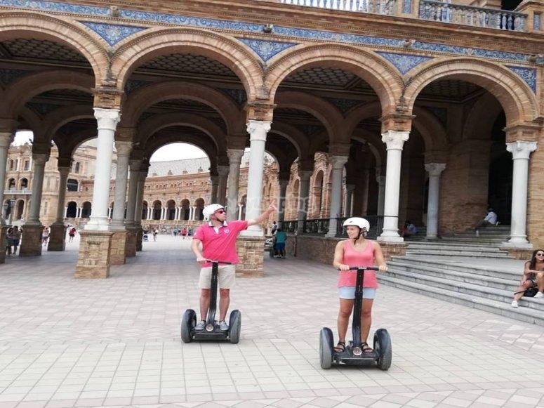 Couple tour with Segway through Seville