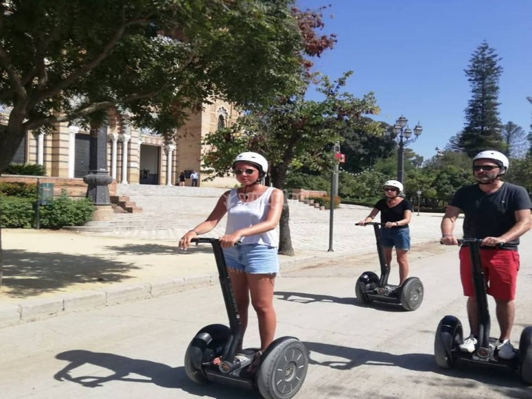 Family outing in Seville Segway