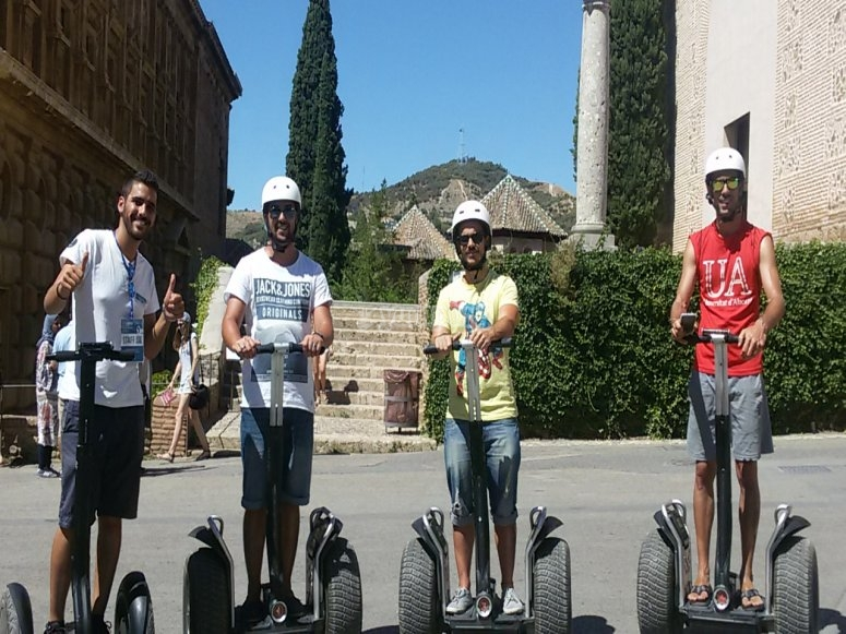 A bordo de los segways